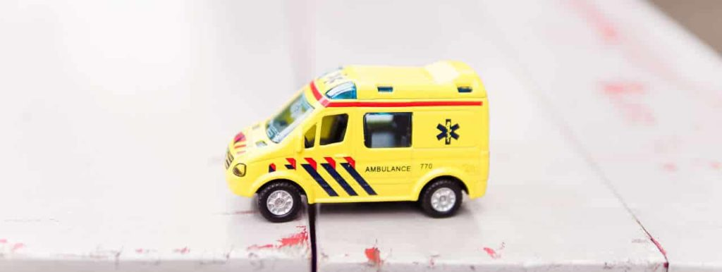 toy yellow ambulance